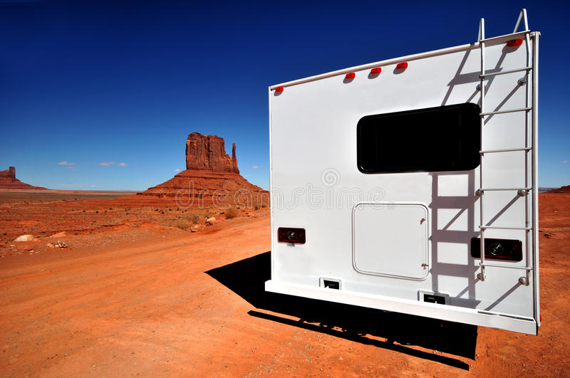 RV vacation in Monument Valley stock images