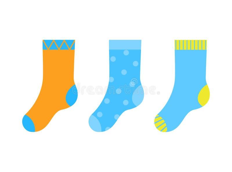 RVB de base 五颜六色的镶边和被溺爱的kiddish袜子 图库摄影