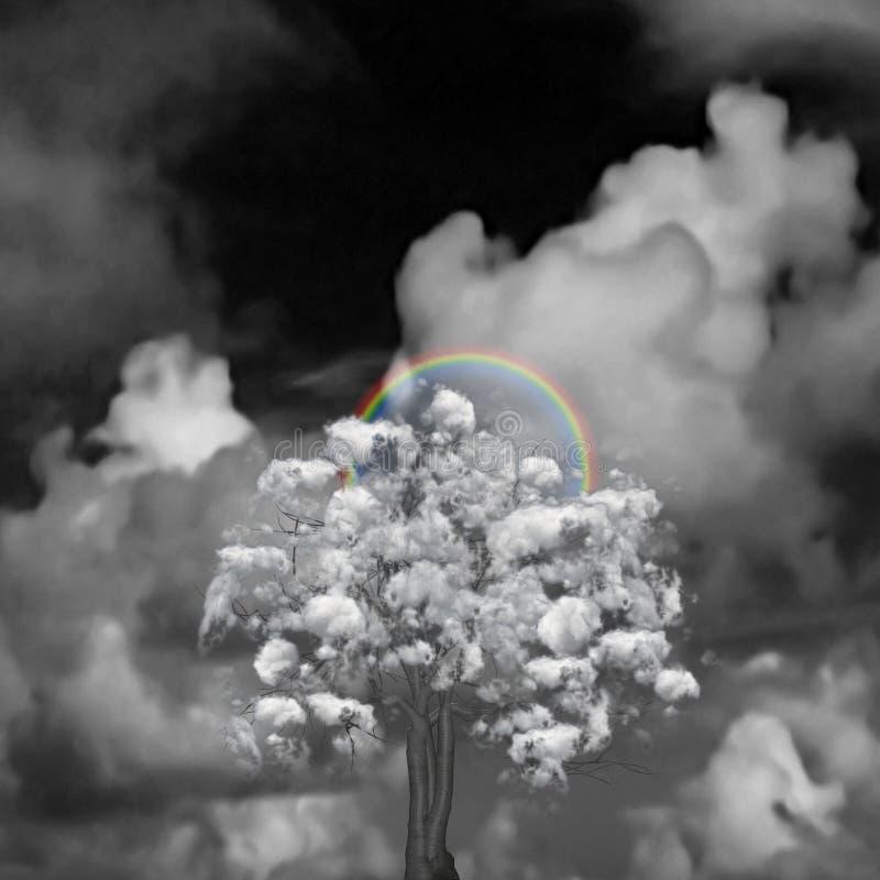 ?rvore da nuvem ilustração royalty free
