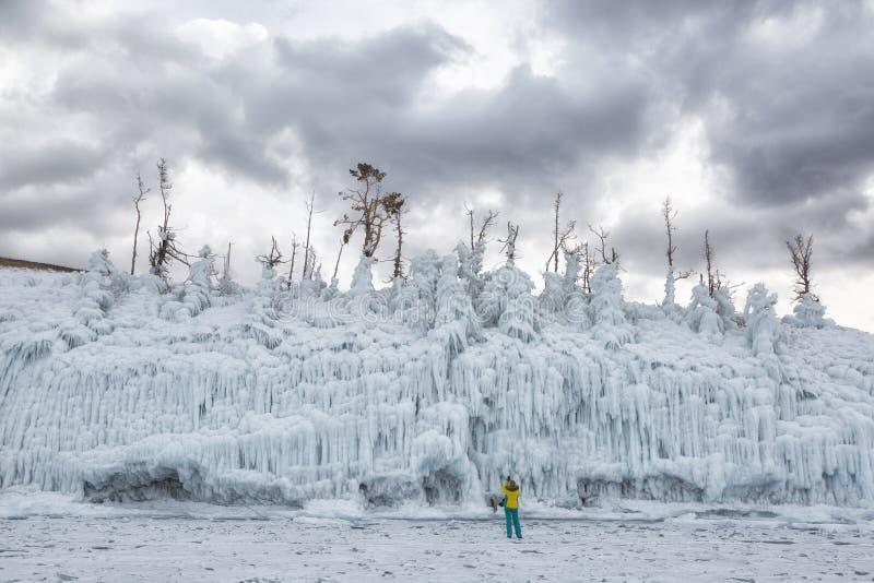 ?rvores cobertas com o gelo R?ssia imagem de stock royalty free