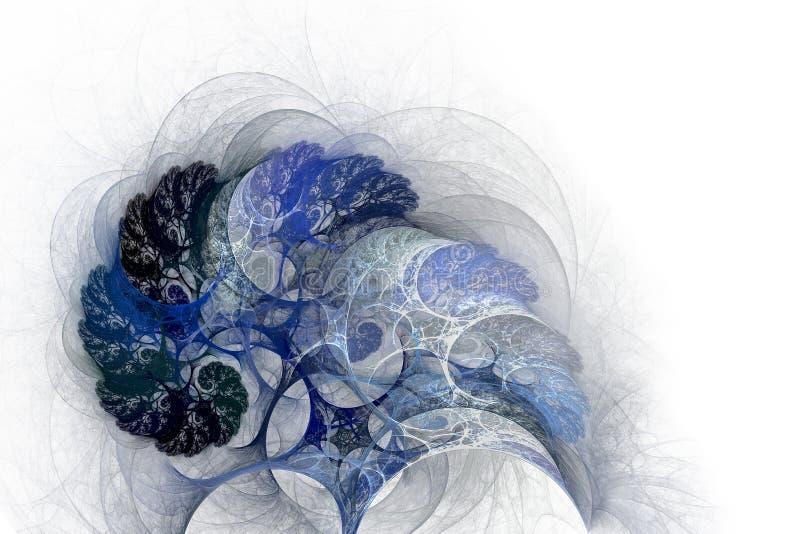 ?rvores na neve Frio do inverno ilustração royalty free