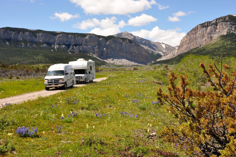 Download RVs in wilderness stock photo. Image of rock, automobile - 24508416
