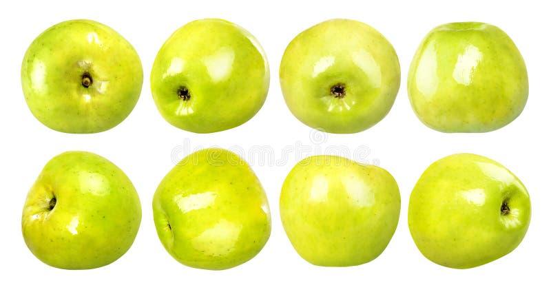 RW manzana verde sobre fondo blanco foto de archivo