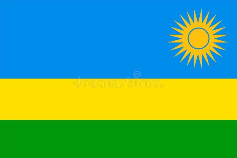 Rwanda flaggavektor Illustration av den Rwanda flaggan royaltyfri illustrationer