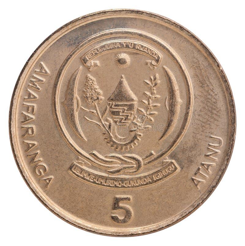 Rwanda franka moneta obraz stock