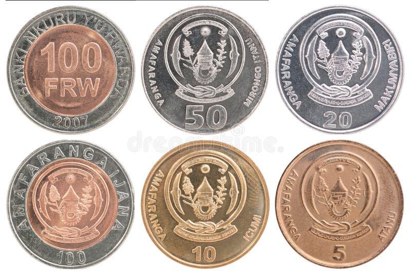 Rwanda franka monety set obrazy stock