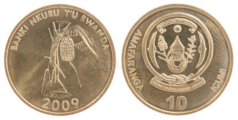 Rwanda franka monety set zdjęcia stock