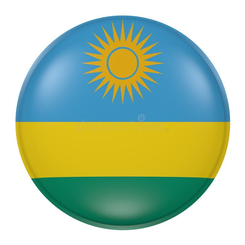 Rwanda knapp på vit bakgrund vektor illustrationer