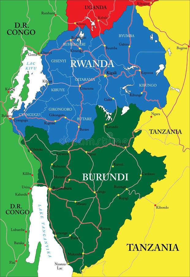 Rwanda Map Stock Images Image - Rwanda map