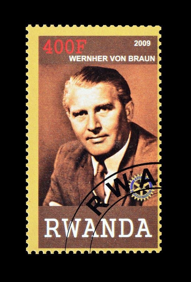 Rwanda op postzegels stock afbeeldingen