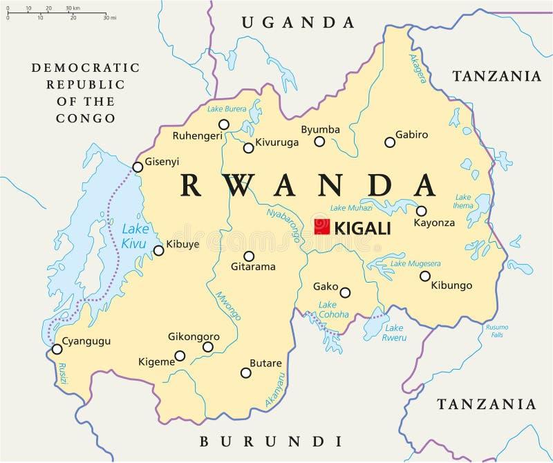 Rwanda Political Map stock vector Illustration of ihema 103786559
