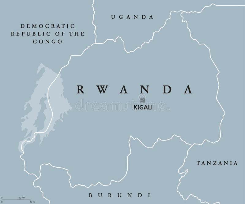 Rwanda political map stock vector Illustration of democratic 96335004