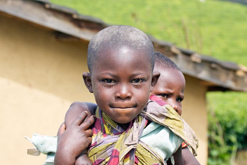 Rwandan children royalty free stock images
