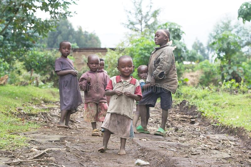 Rwandan children. 2010 estimates place Rwanda's population at 11,055,976. This population is young: an estimated 42.7% are under 15, and 97.5% are under 65. The stock photo