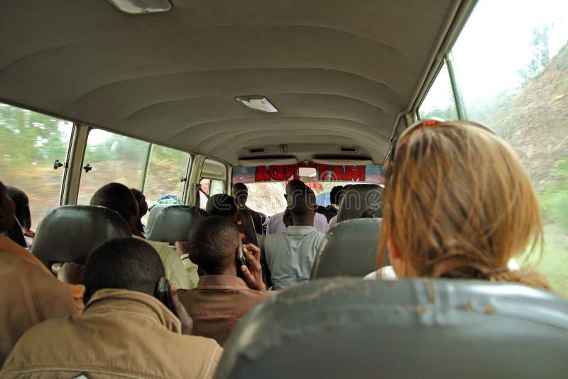 Rwandan Bus Passengers royalty free stock photo