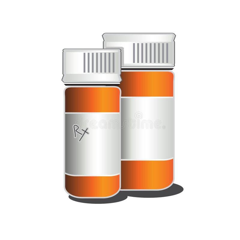 Rx装瓶传染媒介例证 免版税库存照片