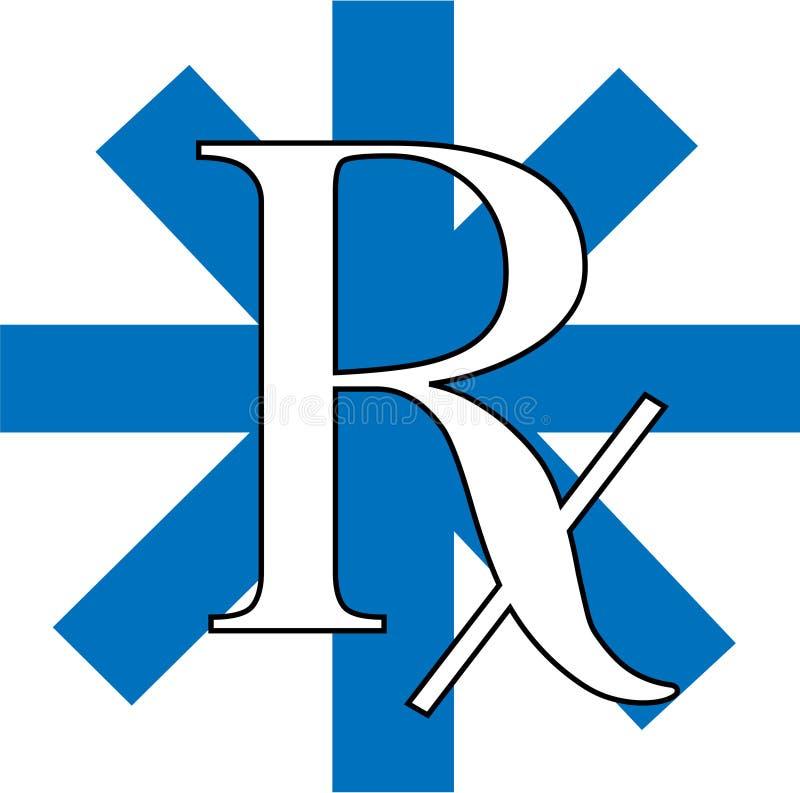 Rx azul ilustração do vetor