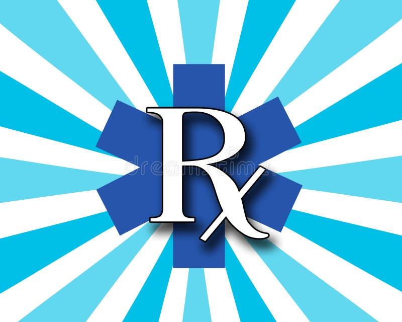 RX azul e branco ilustração royalty free
