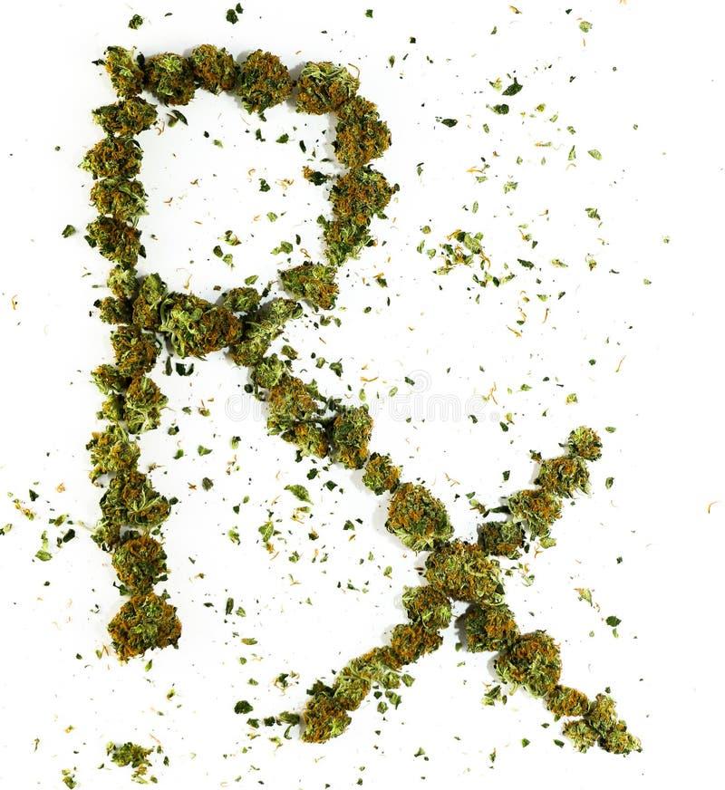 RX buchstabiert mit Marihuana stockbild