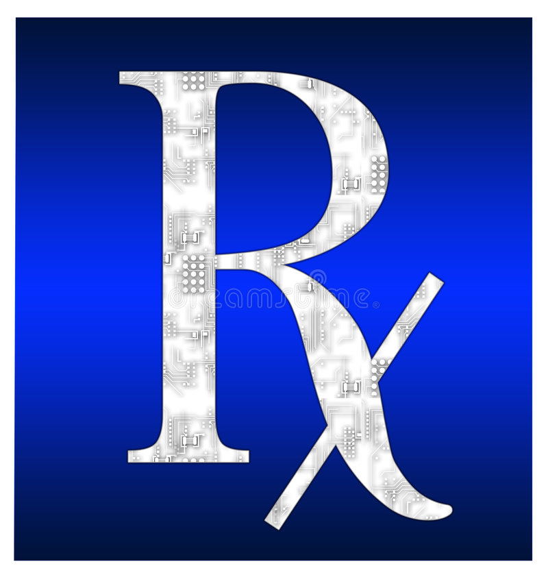 rx komputerowy ilustracji