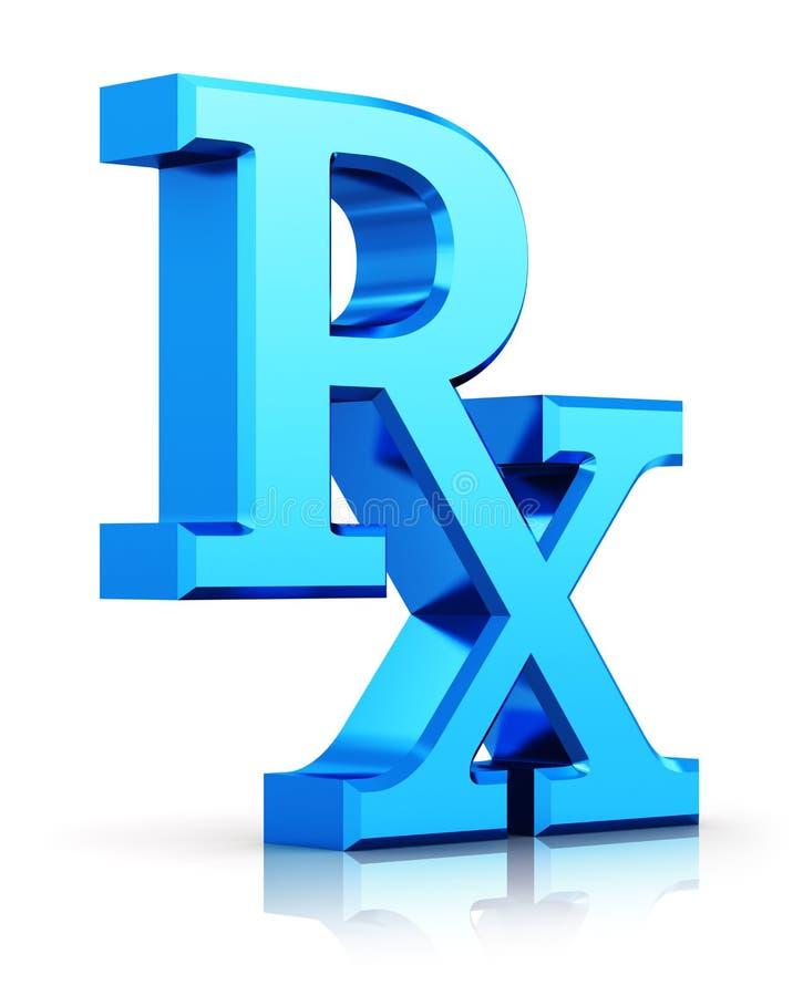 Rx Prescription Medicine Symbol Stock Illustration Illustration Of