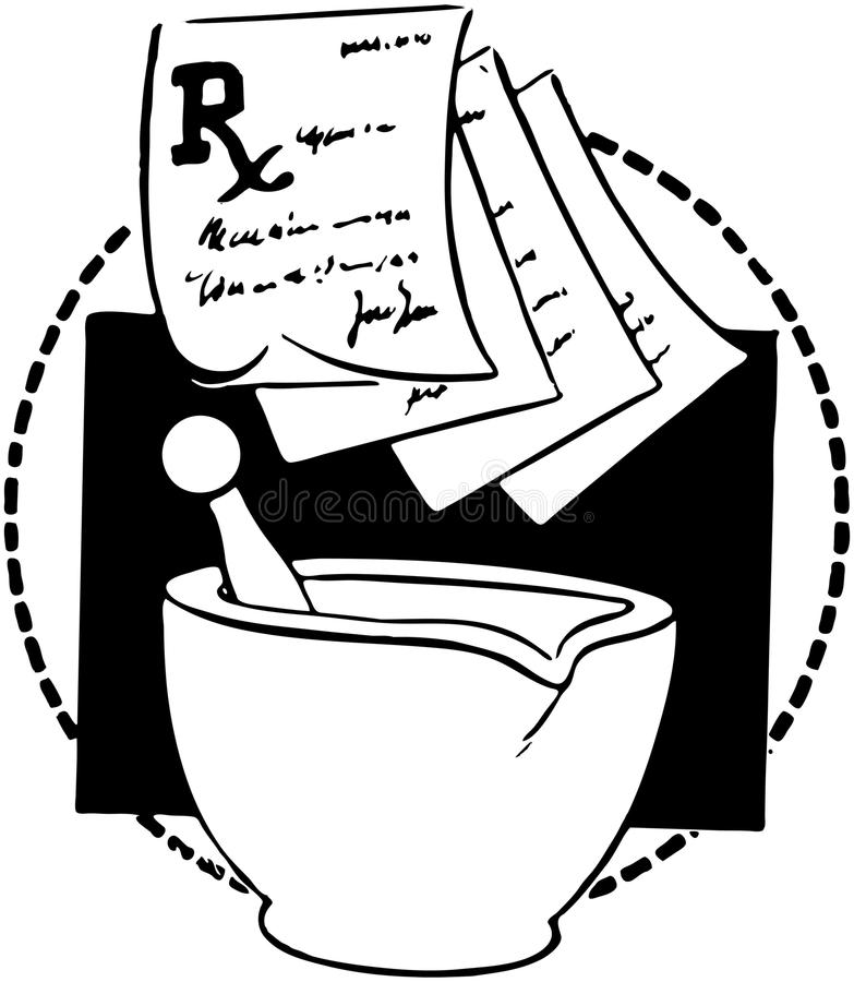 RX Slips And Mortar royalty free illustration