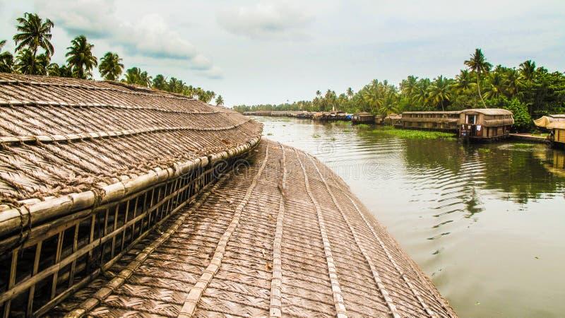 Ryżowa barka Kerala obrazy royalty free