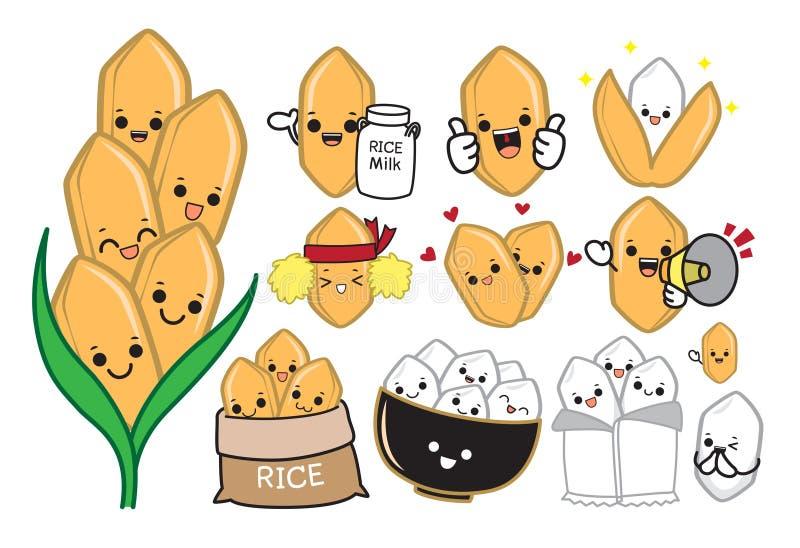 Ryżowa charakteru wektoru ilustracja ilustracji
