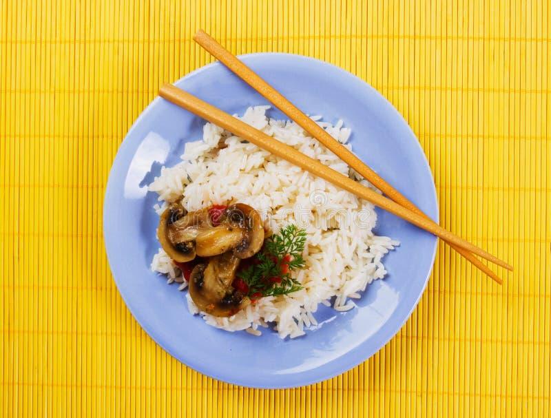 ryżowe gotować pieczarki zdjęcia stock