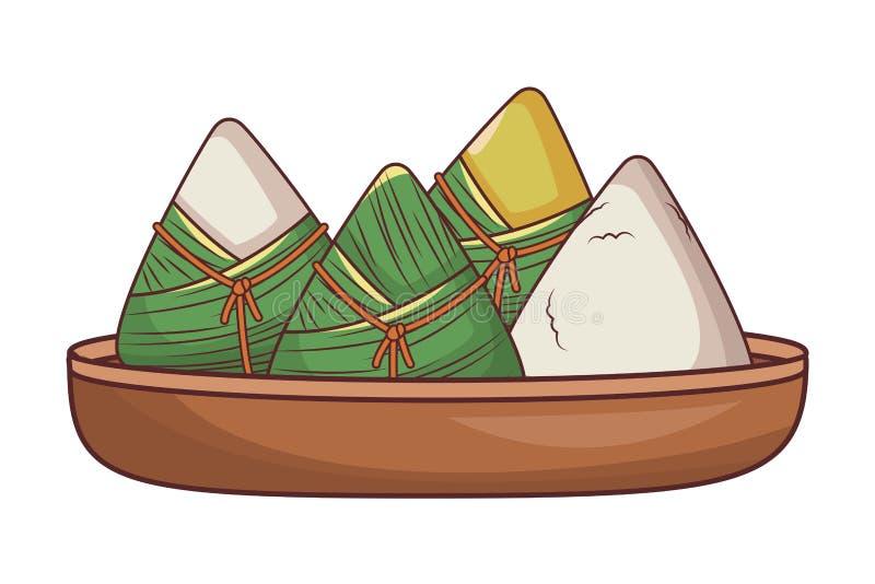 Ryżowe kluchy karmowe ilustracji