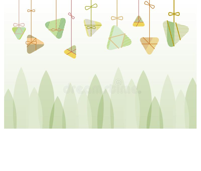 Ryżowego kluchy tła graficzny projekt dla smok łodzi festiwalu royalty ilustracja