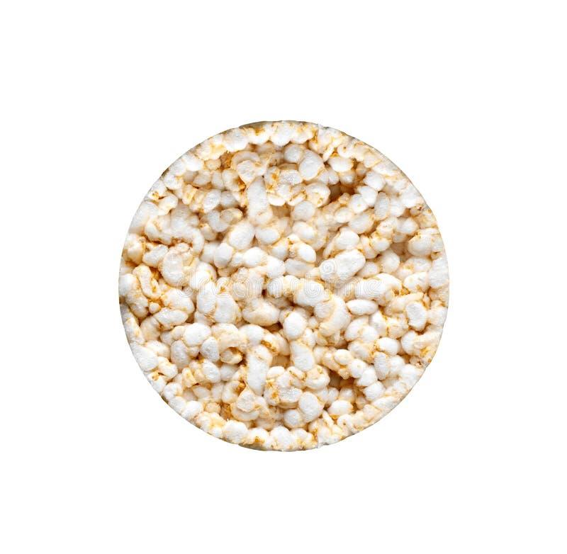 Ryżowy chleb na białym tle obrazy stock