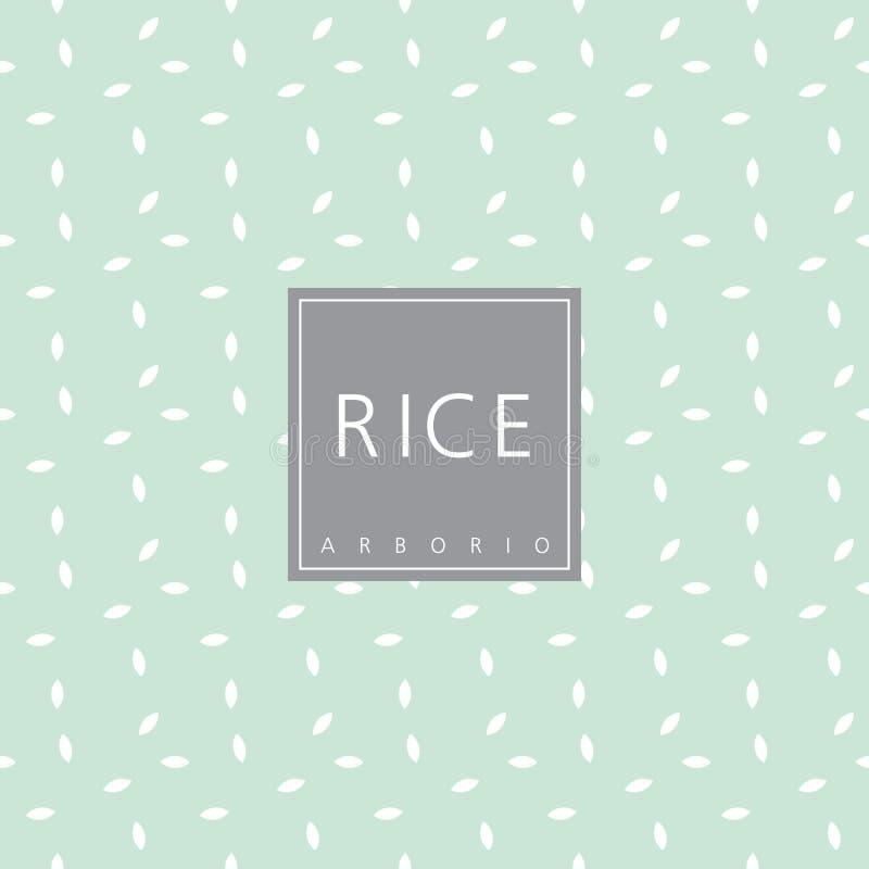 Ryżowy pakunku projekta element szablon Bezszwowy wzór - swatch royalty ilustracja