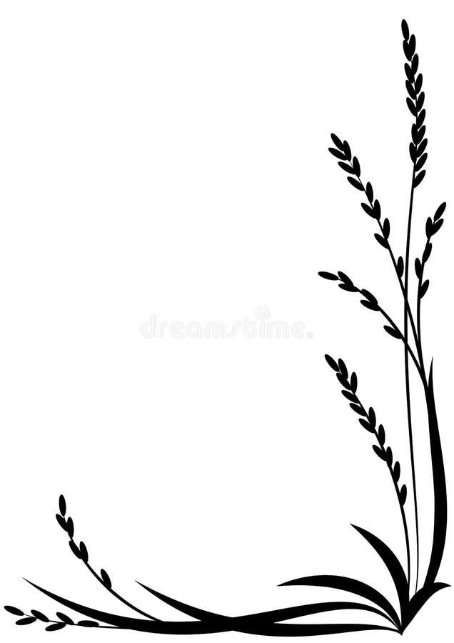 Ryżowy tło royalty ilustracja