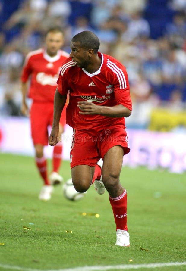 Ryan Babele di Liverpool FC fotografia stock libera da diritti