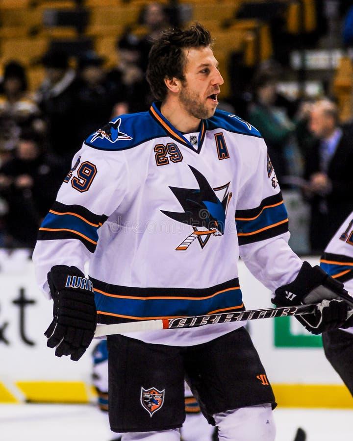 Ryan Clowe San Jose Sharks royaltyfria bilder