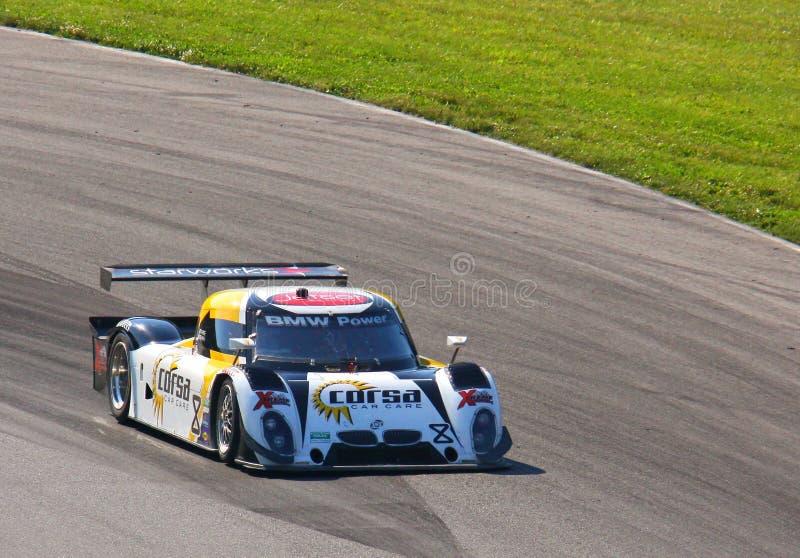 Ryan Dalziel rent de BMW-raceauto royalty-vrije stock foto