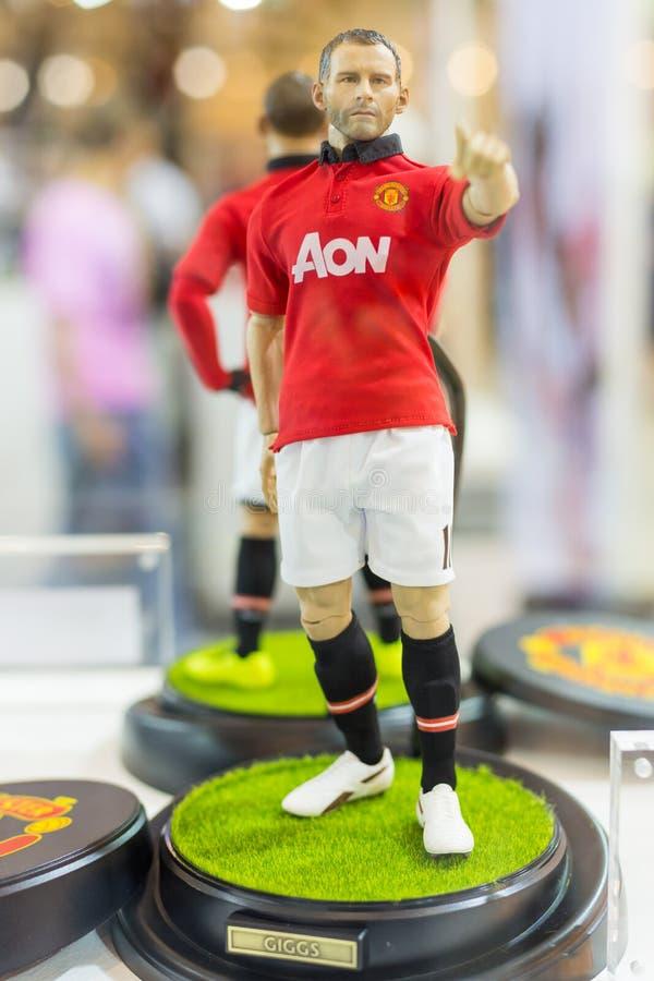 Ryan Giggs Manchester United fotbollsspelaremodell på skärm royaltyfria foton