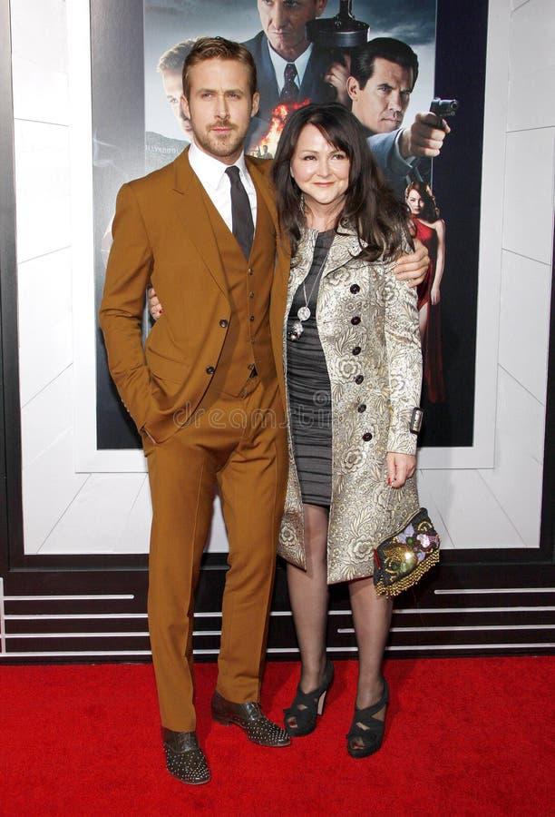 Ryan Gosling och Donna Gosling royaltyfria foton