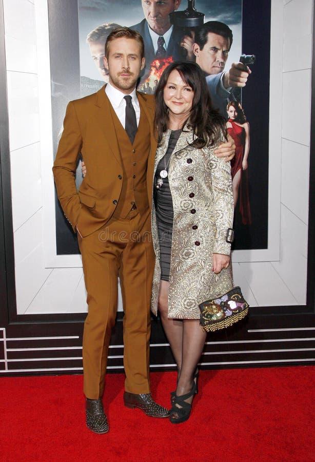 Ryan Gosling y Donna Gosling imagenes de archivo