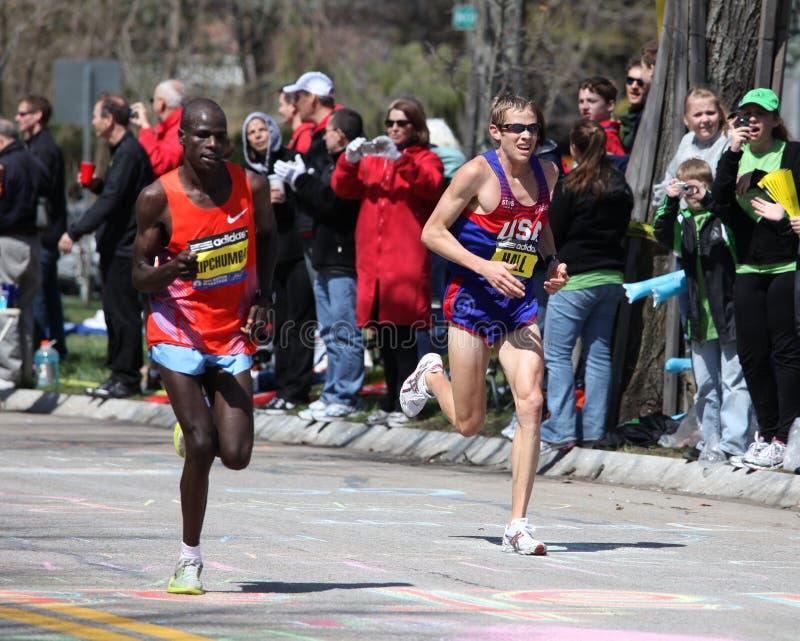 Ryan Hall races up Heartbreak Hill