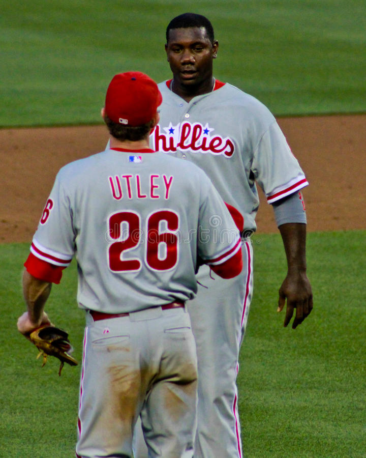 Download Ryan Howard And Chase Utley Phillies Editorial Stock Photo - Image: 27829418