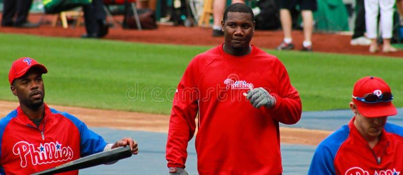 Ryan Howard Filadelfia Phillies zdjęcie royalty free
