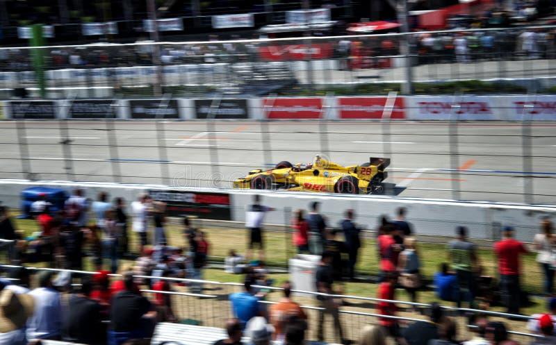 Ryan Hunter-Reay på den Toyota granda prixen av Long Beach royaltyfri foto
