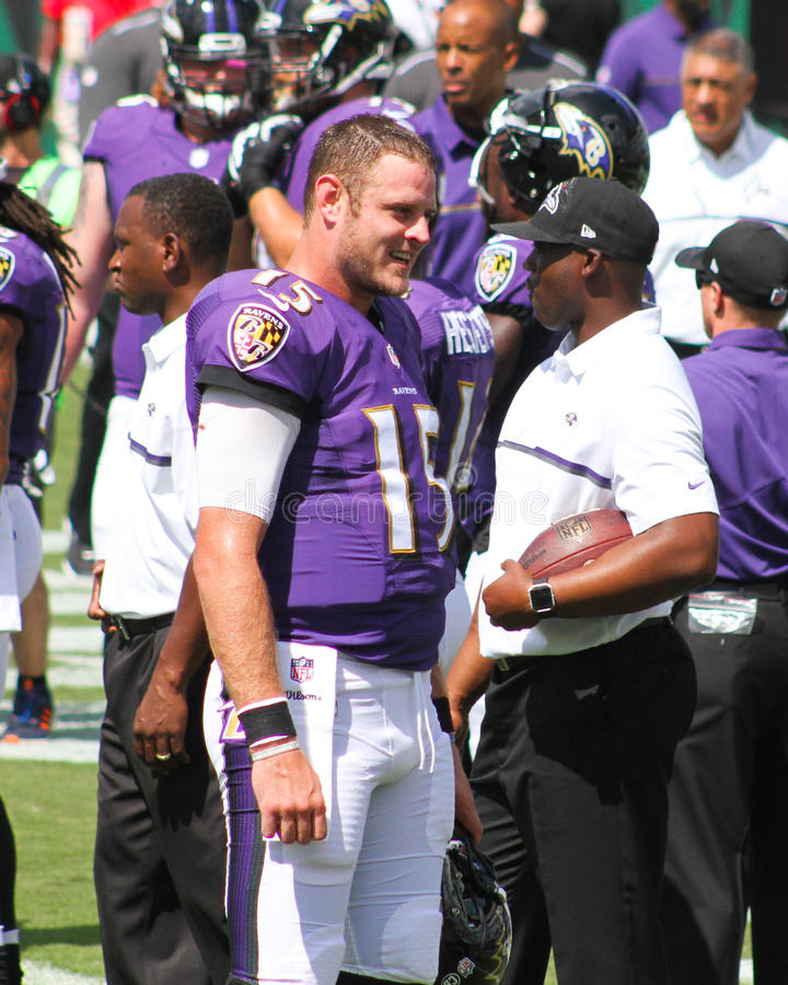 Ryan Mallett. Baltimore Ravens QB Ryan Mallett, #15 royalty free stock photos