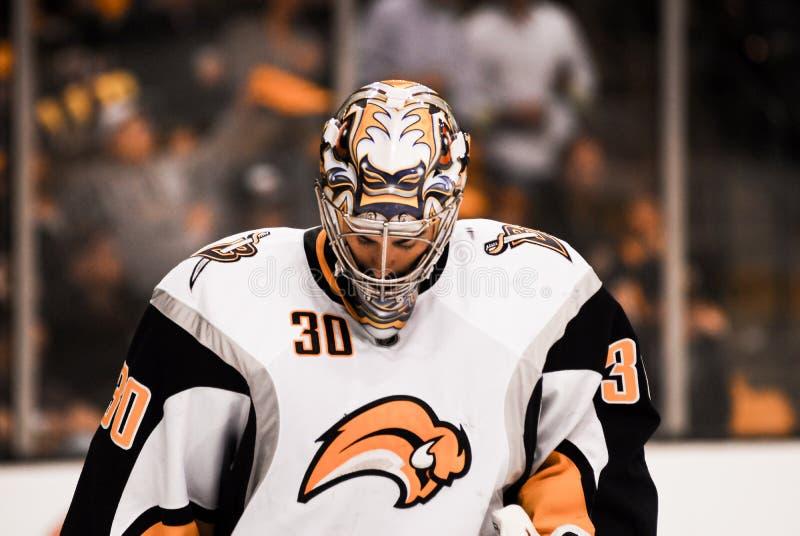 Ryan Miller Buffalo Sabres imagem de stock