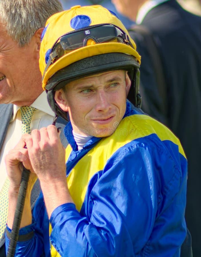Ryan Moore, jóquei da corrida de cavalos no plano foto de stock royalty free