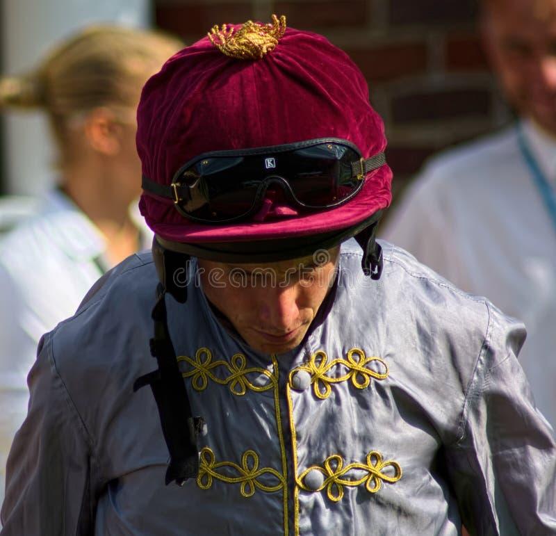 Ryan Moore, puleggia tenditrice di corsa di cavalli immagine stock libera da diritti