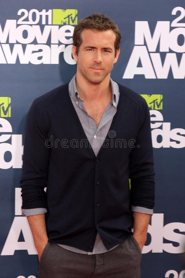 Ryan Reynolds. LOS ANGELES - JUN 5: Ryan Reynolds arriving at the the 2011 MTV Movie Awards at Gibson Ampitheatre on June 5, 2011 in Los Angeles, CA stock images