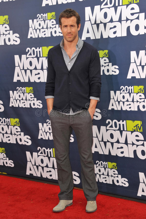 Ryan Reynolds. Arrives at the 2011 MTV Movie Awards at the Gibson Amphitheatre, Universal Studios, Hollywood. June 5, 2011 Los Angeles, CA Picture: Paul Smith stock photos
